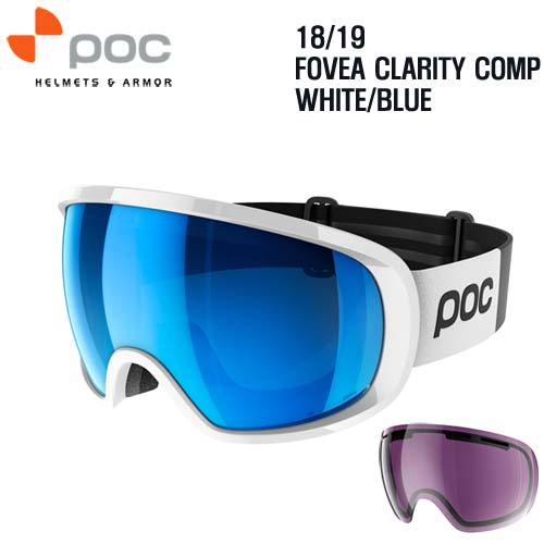 1819시즌 POC GOGGLE FOVEA CLARITY COMP WHITE/BLUE
