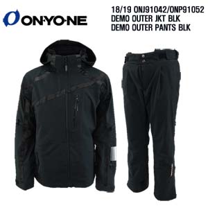 1819 시즌 ONYONE ONJ 91042 DEMO OUTER JKT BLK+ONP 91052 DEMO PANTS BLK