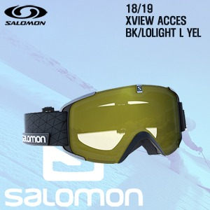 1819시즌 SALOMON X VIEW 고글 BLACK프레임+LOLIGHT L YELLOW렌즈
