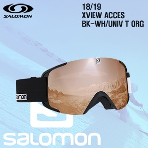 1819시즌 SALOMON X VIEW 고글 BLACK프레임+UNIV ORG렌즈