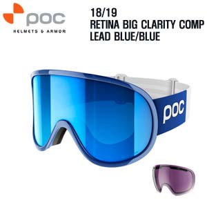 1819시즌 POC GOGGLE RETINA BIG CLARITY COMP LEAD BLUE/BLUE