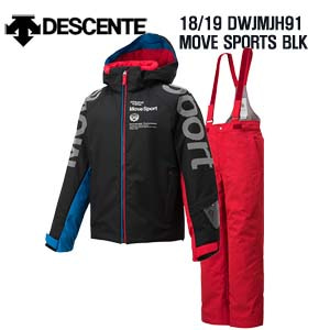 1819시즌(아동/주니어) DESCENTE DWJMJ91 JR SUIT MOVE SPORTS BLK