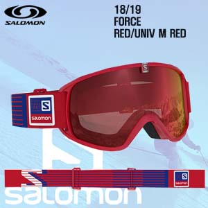 1819시즌 SALOMON FORCE 고글 RED프레임+UNIV M RED 렌즈