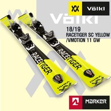 1819시즌 VOLKL RACETIGER SC YELLOW + VMOTION 11 GW