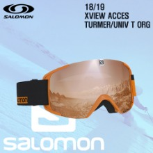 1819시즌 SALOMON X VIEW 고글 TURMER프레임+UNIV ORG렌즈